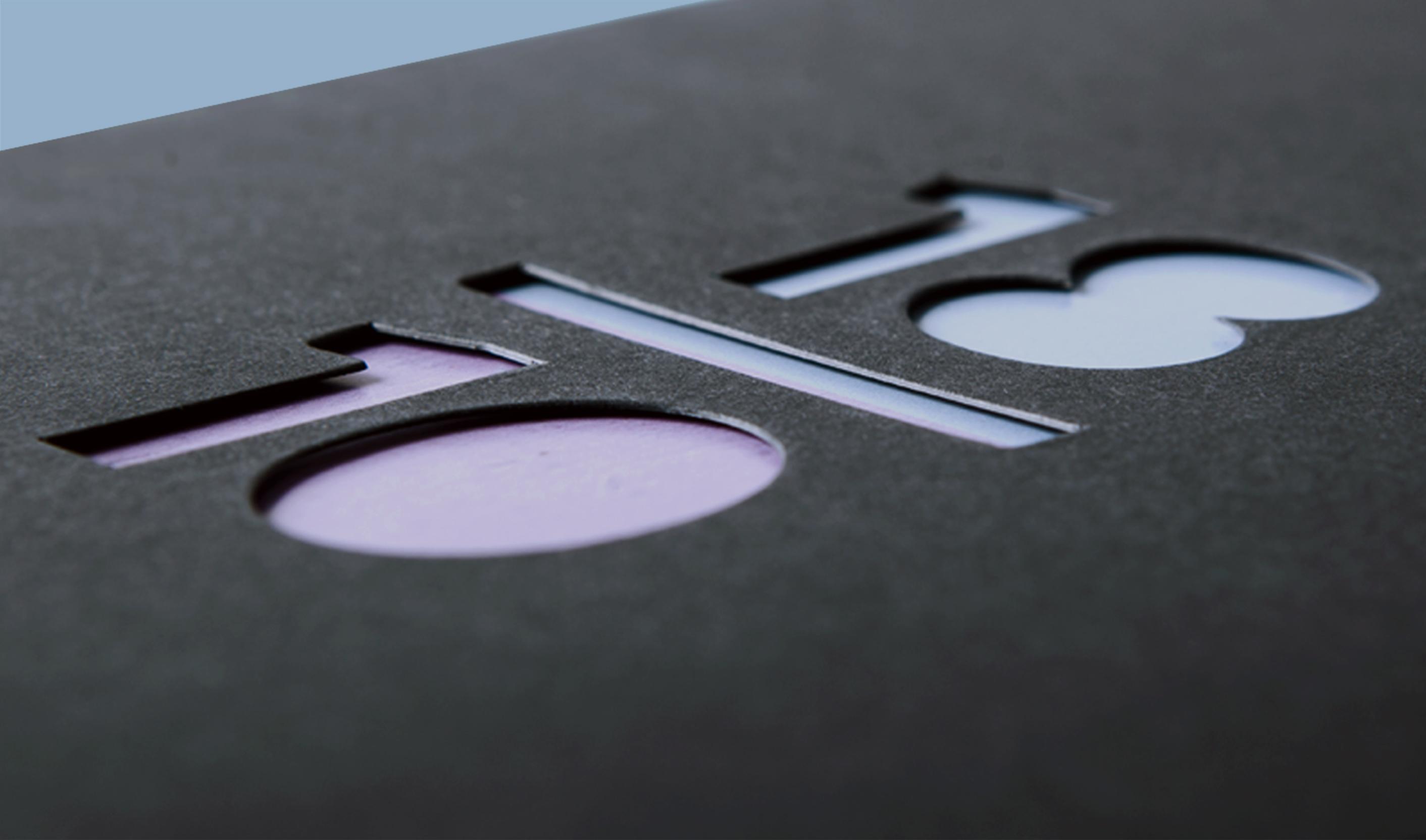 Dettaglio della fustellatura in copertina