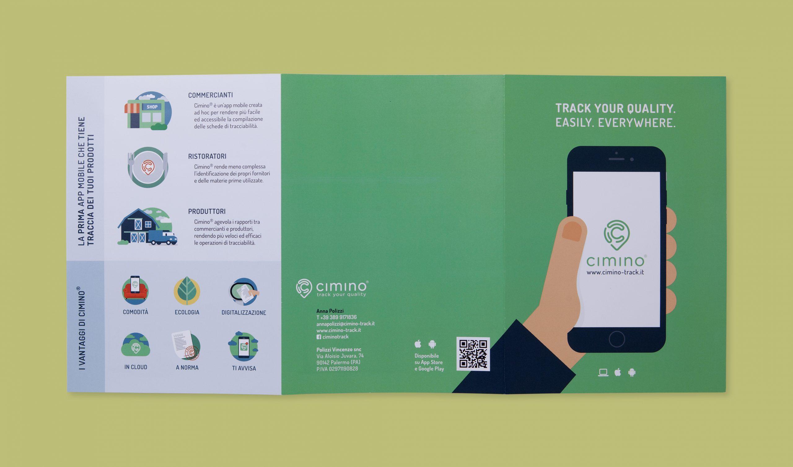 Cimino interfaccia app mobile - Pieghevole