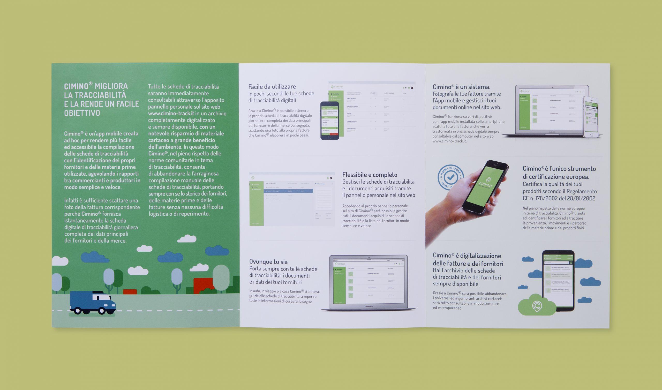 Cimino interfaccia app mobile - Pieghevole interno