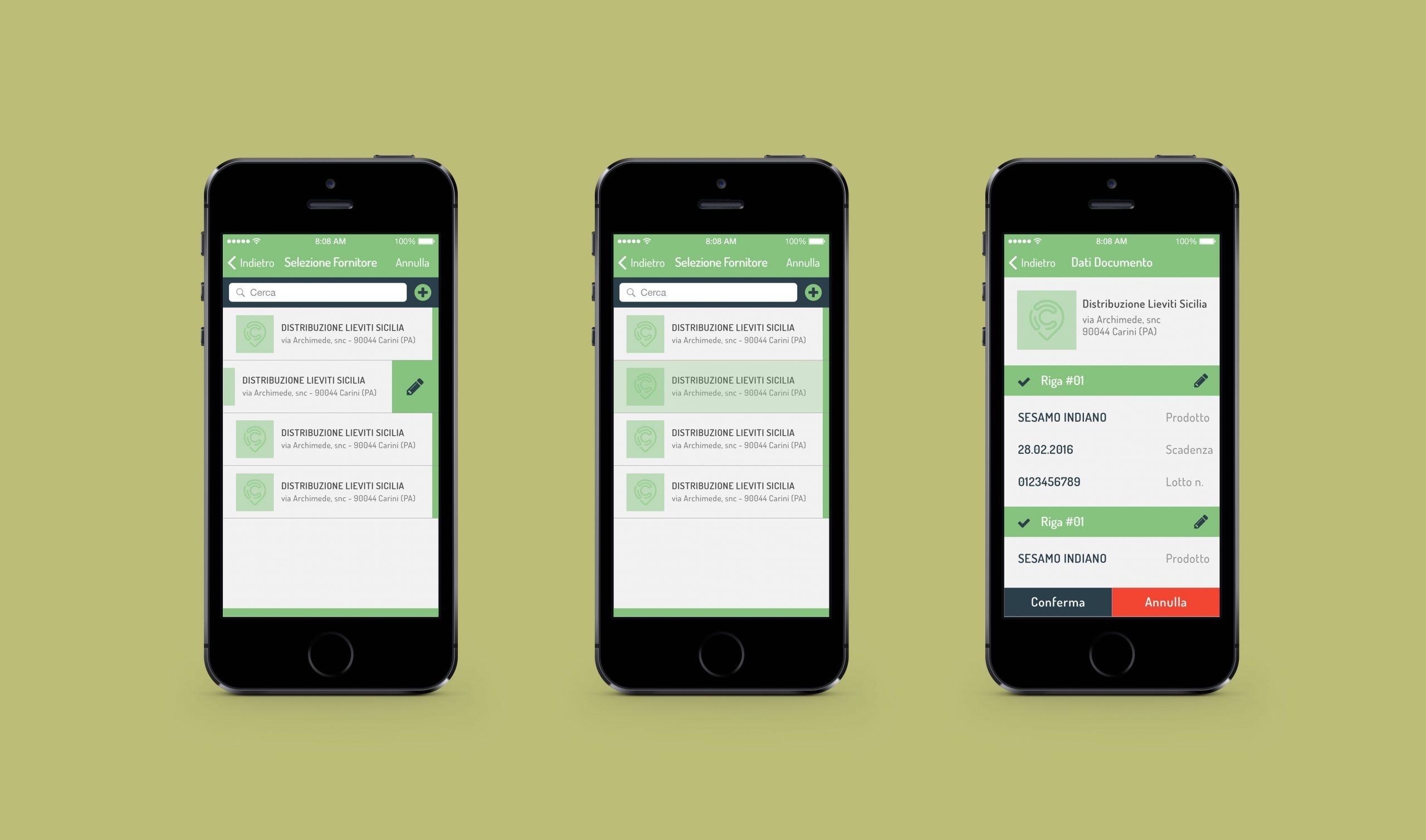 Cimino interfaccia app mobile - iOs Android App