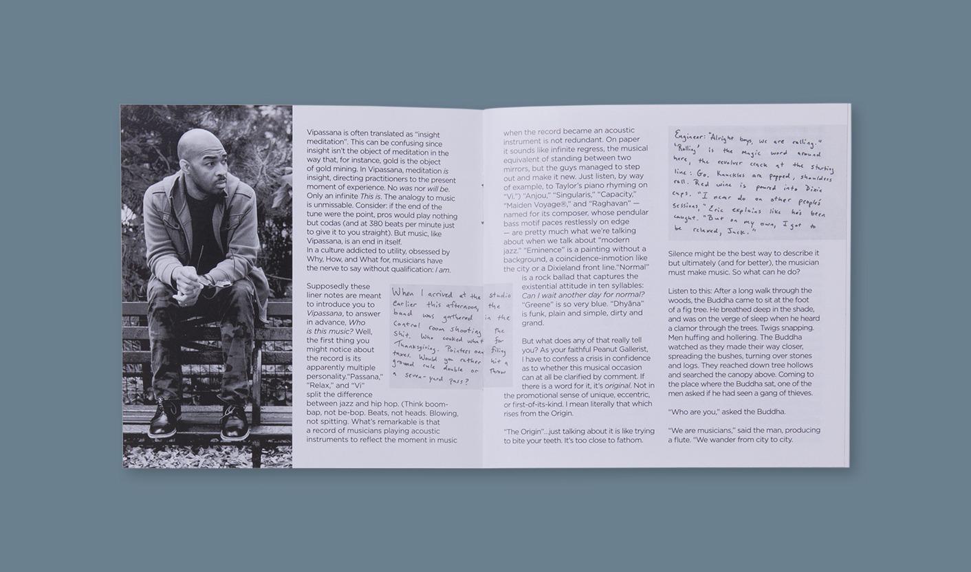 Vipassana - Impaginazione booklet