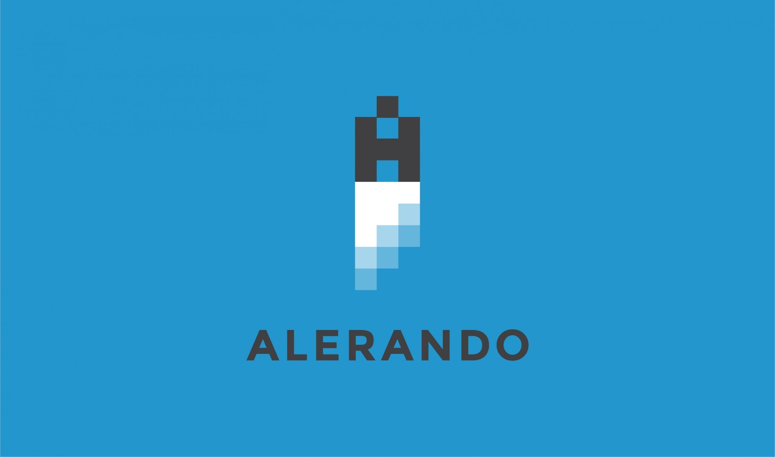 Alerando Identità visiva Developer - Logo su fondo colorato