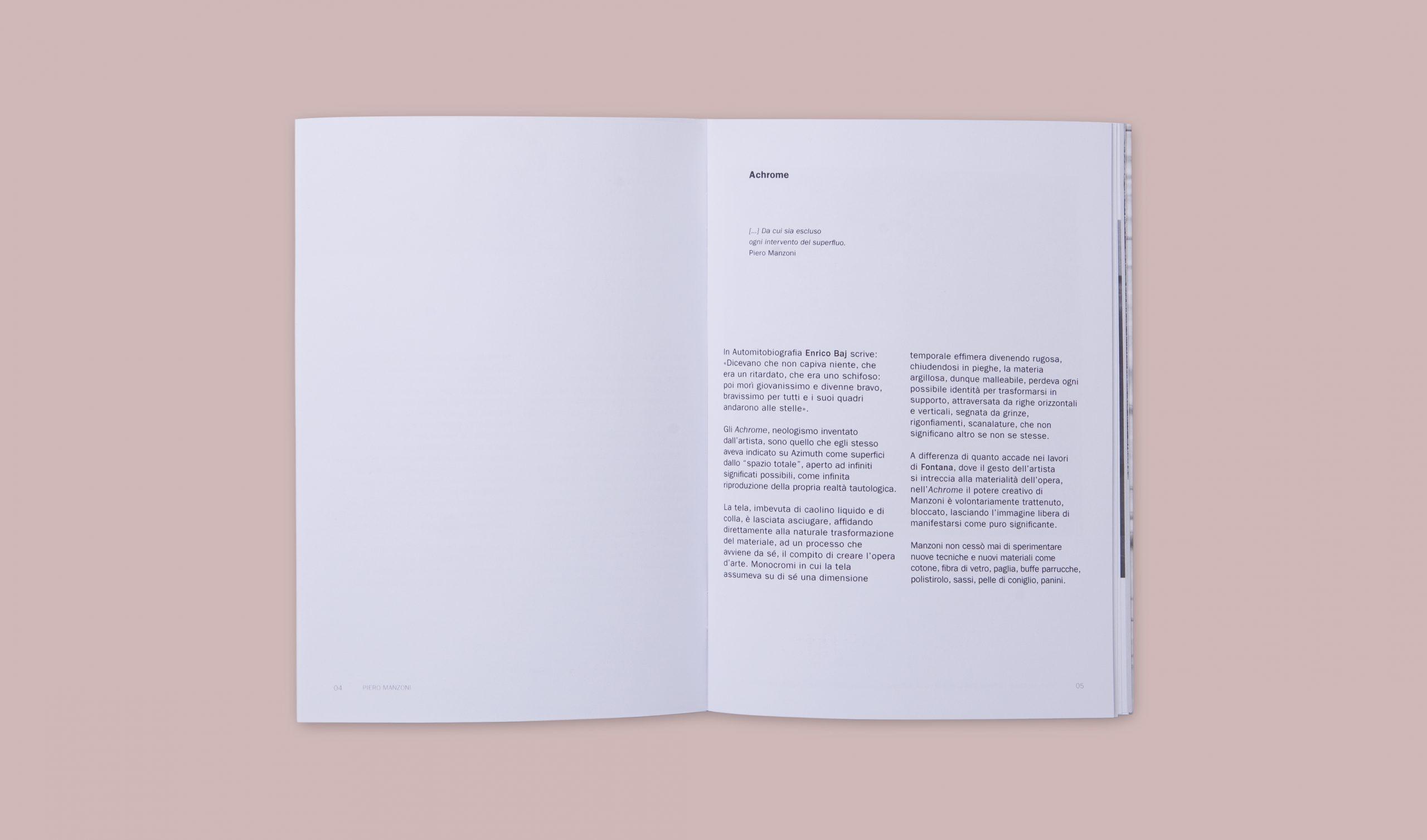Piero Manzoni Monografia Achromes - Interno testo