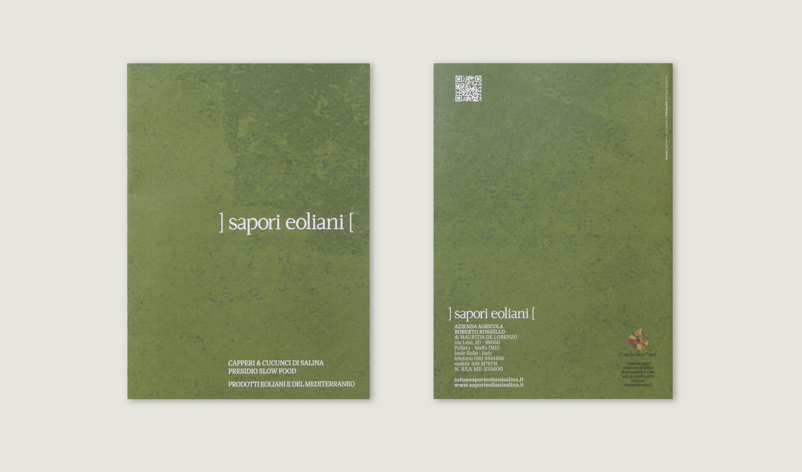 Sapori Eoliani identità visiva azienda di Salina - Brochure