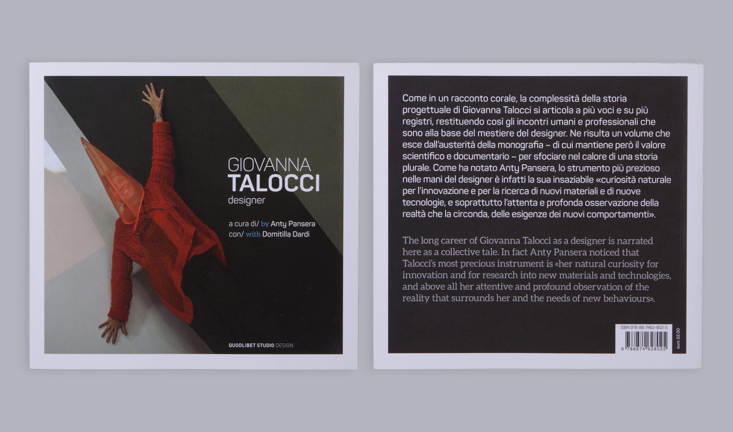 Giovanna Talocci Designer Monografia - Copertina