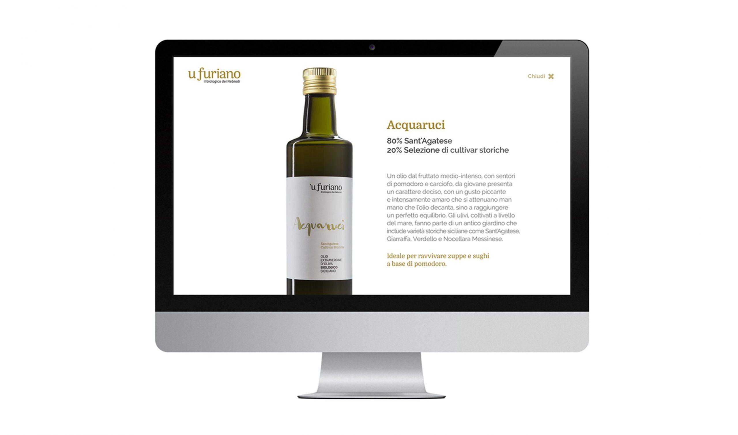 Olio 'u Furiano Website Scheda Olio
