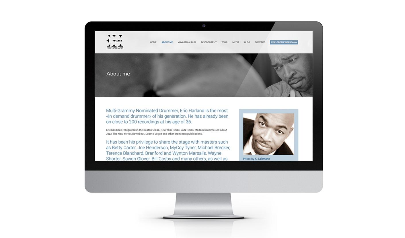 Eric Harland Voyager - Biografia Sito web
