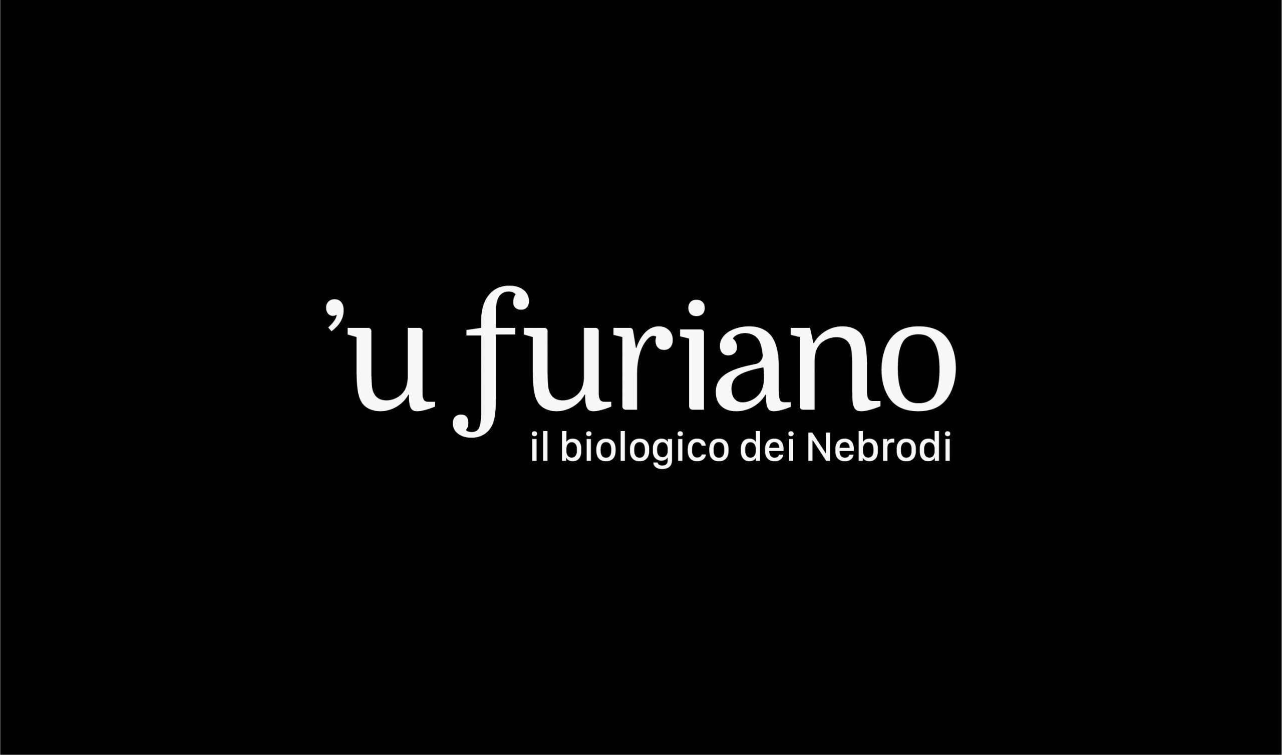 Olio 'u Furiano Packaging e identità visiva - Logo Bianco