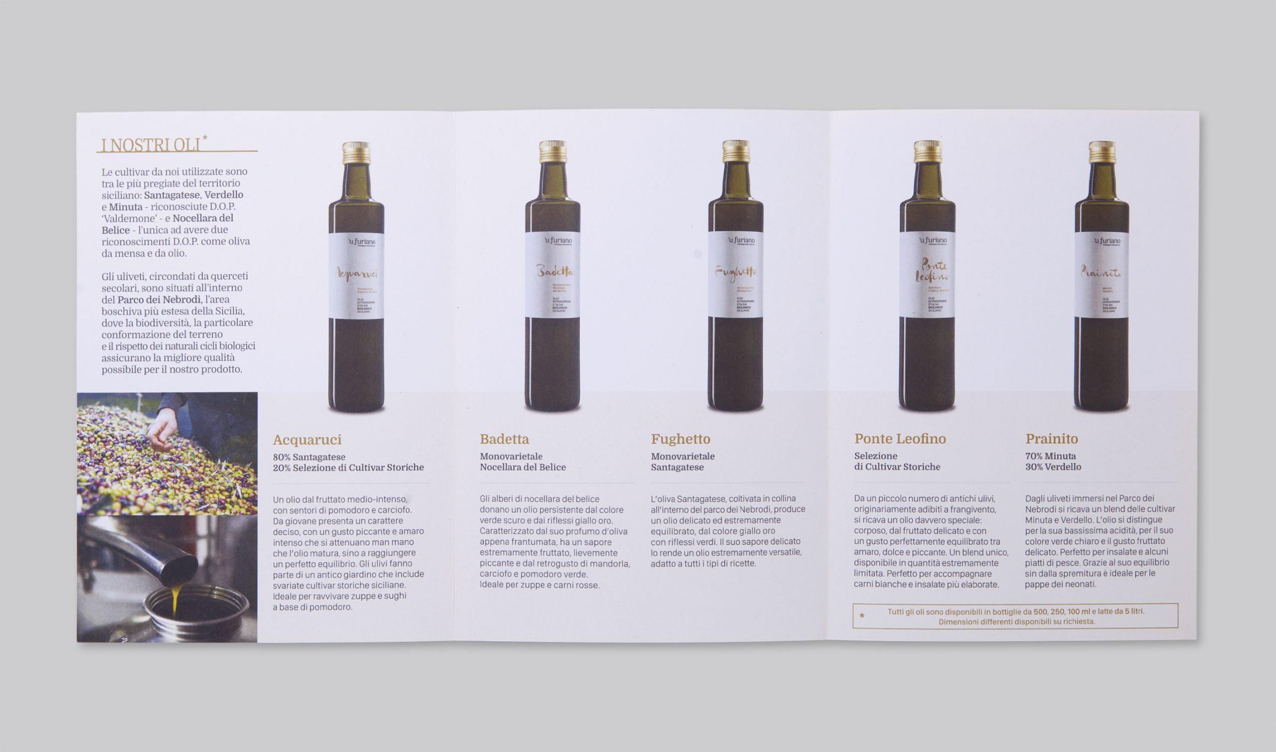 Olio 'u Furiano Packaging - Pieghevole Interno